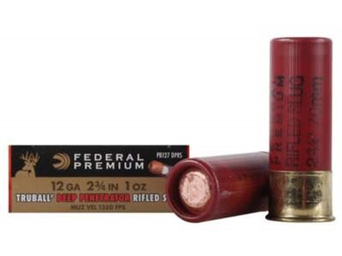 "Federal 12 Gauge Ammunition Vital-Shok PB127DPRS 2-3/4"" 1oz Deep Penetrator TruBall Hollow Point Rifled Slug 1350fps 5 rounds"