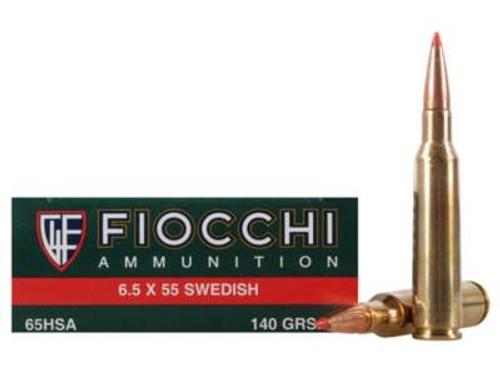Fiocchi 6.5x55mm Swedish Mauser Extrema Ammunition 65HSA 140 Grain SST Polymer Tip 20 rounds