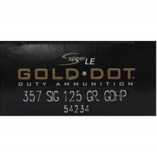 CCI 357 Sig Speer Gold Dot CCI54234 125 gr JHP 50 rounds