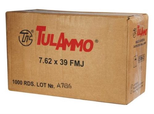 Tula 7.62x39mm 122 gr FMJ CASE 1000 rounds