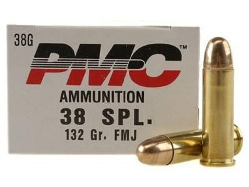 PMC 38 Special Bronze Ammunition PMC38G 132 Grain Full Metal Jacket 50 rounds