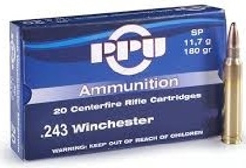 Prvi PPU 243 Win Ammunition PP251 100 Grain Soft Point 20 Rounds