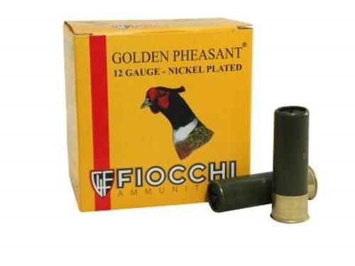 "Fiocchi 12 Gauge Ammunition Golden Pheasant FI123GP6 3"" 1-3/4 oz #6 Nickel Plated Shot 25 rounds"