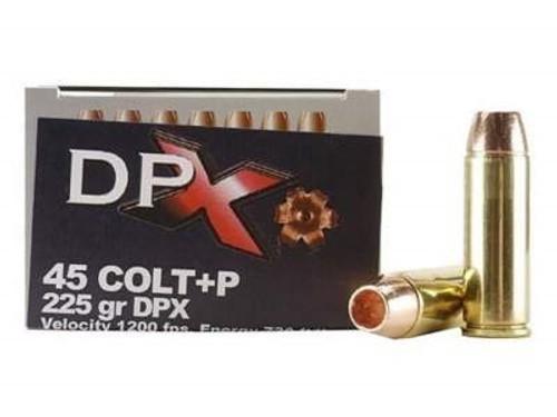 Corbon 45 Colt +P DPX Ammunition 225 Grain DPX Hollow Point Lead-Free 20 rounds