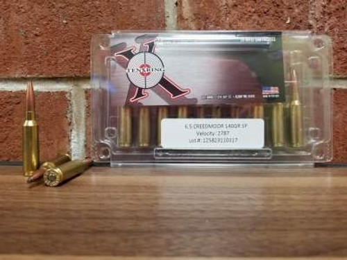 Ten Ring 6.5 Creedmoor Ammunition 140 Grain Soft Point 20 rounds