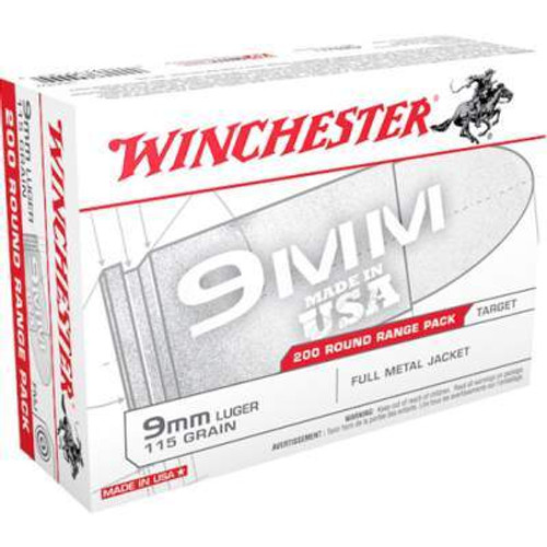Winchester 9mm Range Pack USA9W 115 gr FMJ 200 rounds