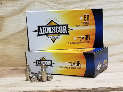 Armscor 22 TCM 9R Ammunition 39 Grain Jacketed Hollow Point CASE 1000 rounds