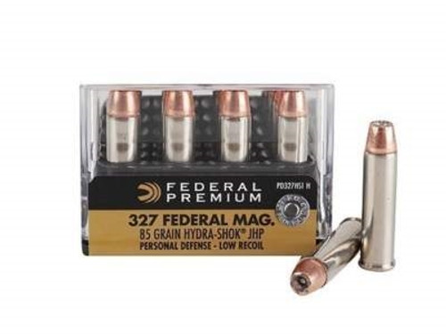 Federal 327 Federal Magnum Ammunition Hydra-Shok PD327HS1H 85 Grain Jacketed Hollow Point 20 rounds