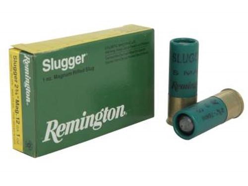 """Remington 12 Gauge Slugger S12SRS 2-3/4"""" 1 oz Magnum Rifled Slug 1680fps SP12SMag-RS-5PK 5 rounds"""