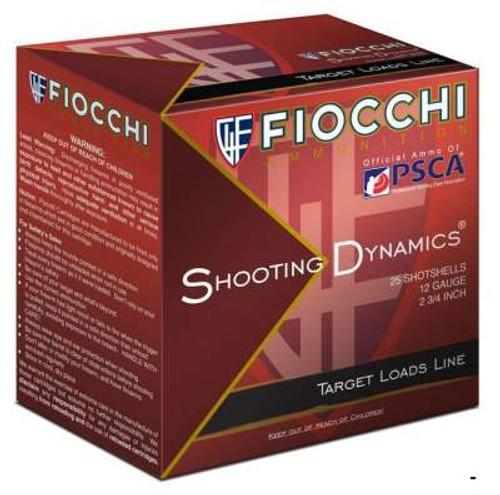 """Fiocchi 12 Gauge Ammunition Shooting Dynamis 12SD18L7 2-3/4"""" 1165FPS 1-1/8oz #7.5 CASE 250 rounds"""