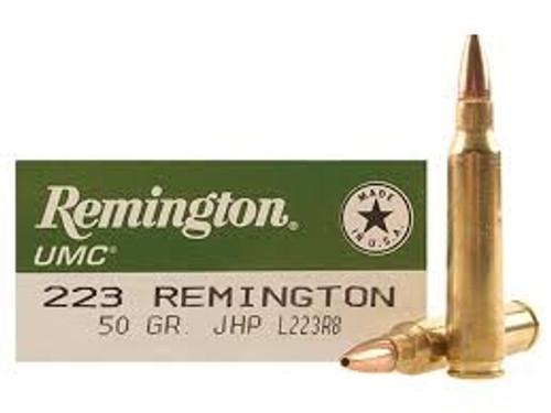 Remington 223 Rem Ammunition L223R8 50 Grain Jacketed Hollow Point 20 rounds