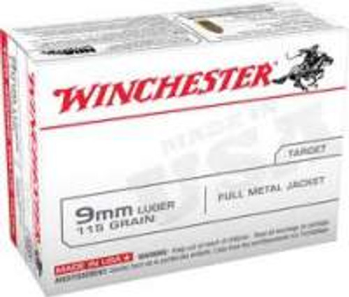 Winchester 9mm USA9MMVP 115 gr FMJ 100 rounds