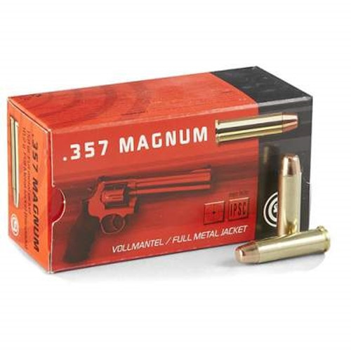 Geco 357 Magnum AMMUNITION GE272040050 158 Grain Full Metal Jacket 50 rounds