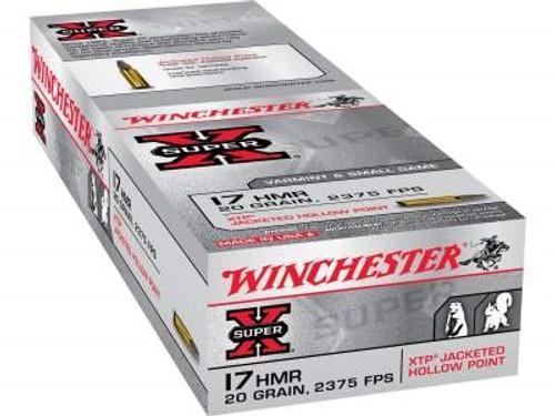 Winchester 17 HMR Ammunition Super-X X17HMR1 20 Grain XTP CASE 1000 rounds