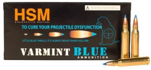 HSM 223 Rem Ammunition Varmint Blue 55 Grain Sierra Blitzking 20 rounds