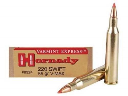 Hornady 220 Swift Varmint Express H8324 55 gr V-MAX 20 rounds