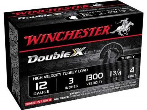 "Winchester 12 Gauge Ammunition Turkey STH1234 3"" 1-3/4oz #4 1300fps High Velocity Magnum 10 rounds"