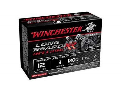 """Winchester 12 Gauge Ammunition Long Beard Turkey STLB1234 3"""" #4 Shot 1-3/4oz 1200fps 10 rounds"""