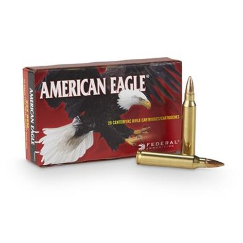 Federal 223 Remington Ammunition American Eagle AE223 55 Grain Full Metal Jacket Boat Tail CASE 500 rounds