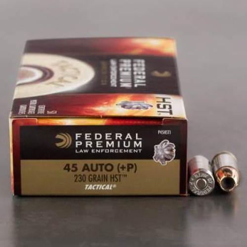 Federal 45 Auto +P HST Tactical P45HST1 230 gr JHP 50 rounds