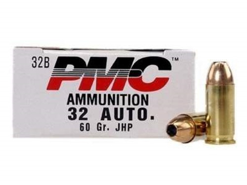 PMC 32 Auto Ammunition PMC32B 60 Grain Jacketed Hollow Point 50 rounds