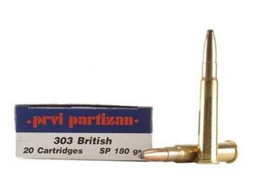 Prvi PPU 303 British Ammunition PP39 180 Grain Soft Point 20 Rounds