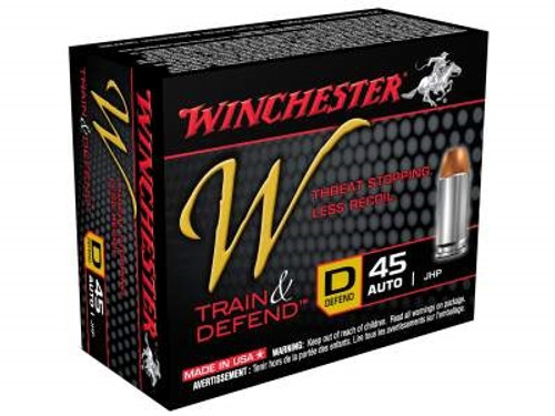 Winchester 45 Auto Defend W45D 230 gr JHP 20 rounds