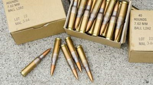 Malaysian 7.62x51mm NATO Ammunition Surplus 146 Grain Full Metal Jacket 300 rounds