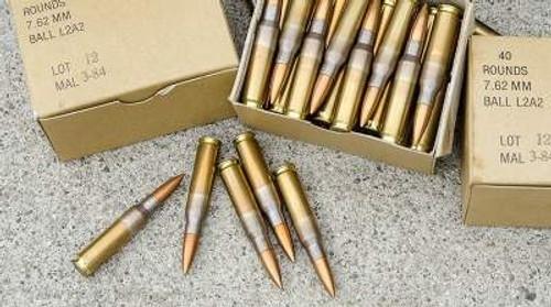 Malaysian 7.62x51mm NATO Ammunition Surplus 146 Grain Full Metal Jacket 300 rounds