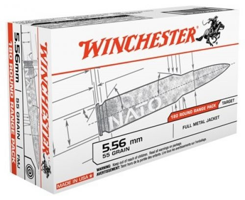 Winchester 5.56x45mm NATO USA3131W M193 55 gr FMJ 180 rounds
