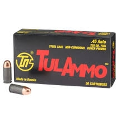 Tula 45 ACP Ammunition TA452300 230 Grain Full Metal Jacket Case of 500 Rounds