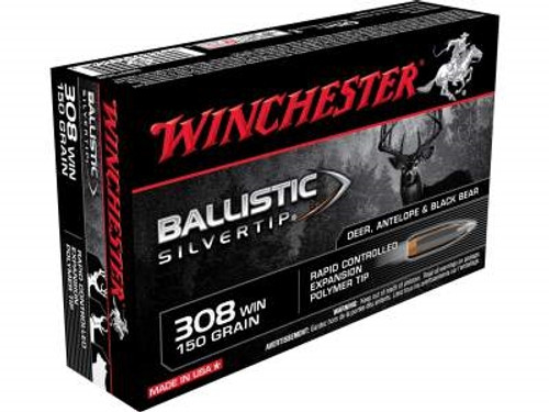 Winchester 308 Supreme SBST308 150 gr Ballistic Silvertip 20 rounds