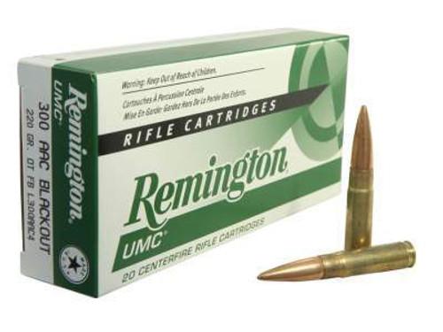 Remington 300 AAC Blackout L300AAC4 220 gr OTFB 20 rounds