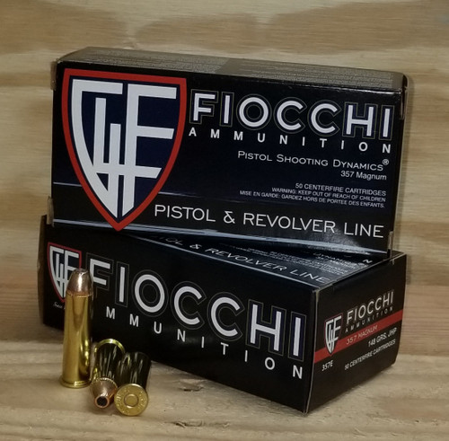 Fiocchi 357 Magnum Shooting Dynamics Ammunition FI357E 148 Grain Jacketed Hollow Point 50 Rounds