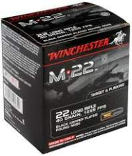 Winchester 22LR M22 40 gr Black Copper Plated Round Nose 500 rounds