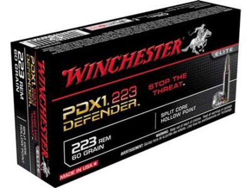 Winchester 223 PDX1 Defender S223RPDB 60 gr Bonded JHP 20 rounds