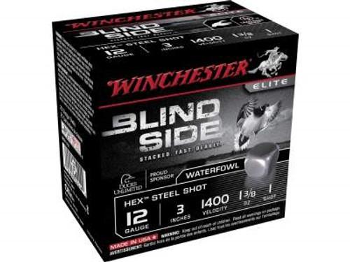 "Winchester 12 GA Blind Side SBS1231 Ammunition 3"" 1-3/8 oz #1 1400fps Non-Toxic Steel Shot 250 rounds"