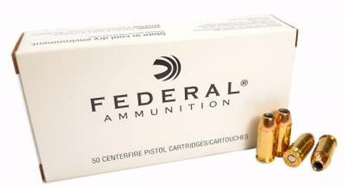 Federal 45 Auto Ammunition F45D 230 Grain Jacketed Hollow Point 50 rounds