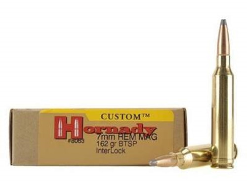 Hornady 7mm Rem Mag Custom H8063 162 Grain InterLock Spire Point 20 rounds