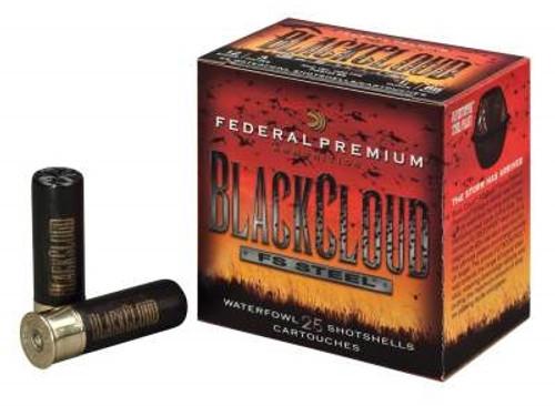 "Federal 12 Gauge PWB1423 Black Cloud Waterfowl Ammunition 3"" 1-1/4 oz #3 1450fps Steel Shot 250 rounds"