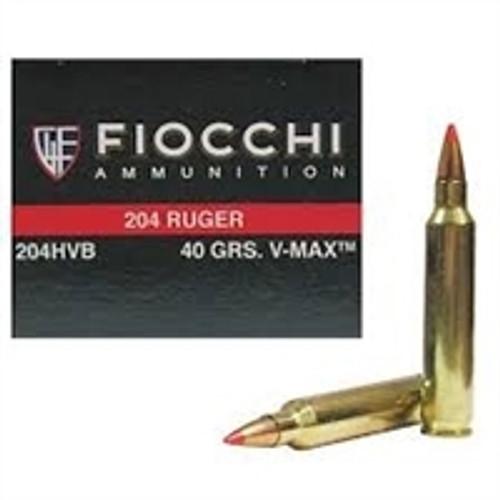 Fiocchi 204 Ruger Extrema Ammunition FI204HVB 40 Grain V-MAX CASE 1000 rounds