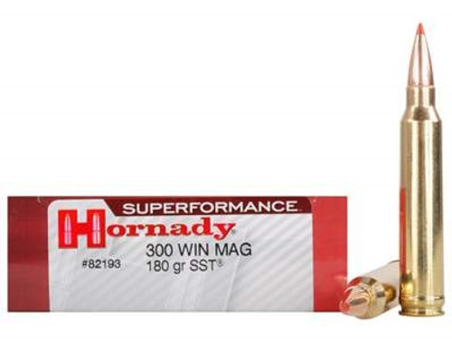 Hornady 300 Win Mag Superformance H82193 180 gr SST 20 rounds