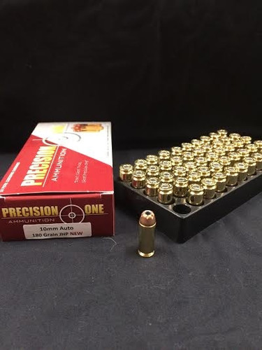 Precision One 10mm Auto Ammunition 180 Grain Jacketed Hollow Point 50 rounds