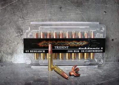 G2 Research RIP 300 Blackout Trident 200 gr Sub Sonic 1040 FPS 20 rounds