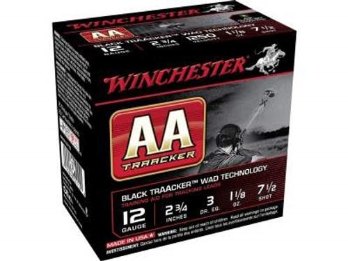 "Winchester 12 Gauge AA Ammunition Heavy TrAAcker Black AAHA127TB 2-3/4"" 1-1/8oz 7-1/2 Shot Black Wad 1250fps 250 rounds"
