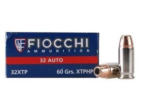 Fiocchi 32 Auto Ammunition FI32XTP 60 Grain Hornady XTP Jacketed Hollow Point 50 rounds