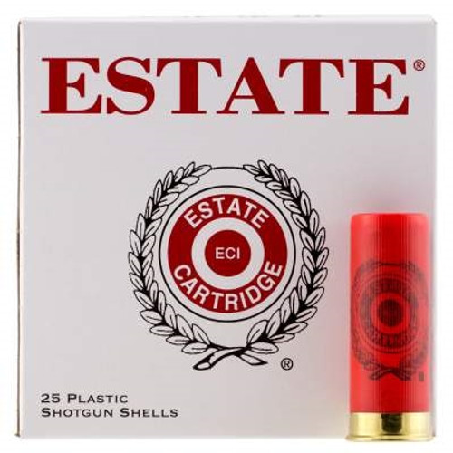 "Estate 12 Gauge Ammunition SS12H8CASE 2-3/4"" 1-1/8oz #8 shot 1200 fps CASE 250 rounds"