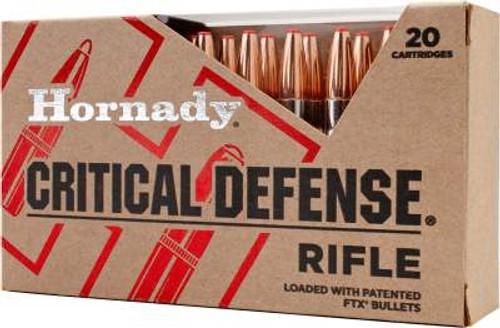 Hornady 223 Rem Critical Defense Ammunition H80260 73 gr FTX 20 rounds