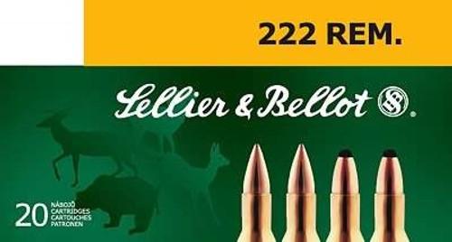 Sellier & Bellot .222 Remington Ammunition Soft Point 50 Grain SB222A 20Rounds