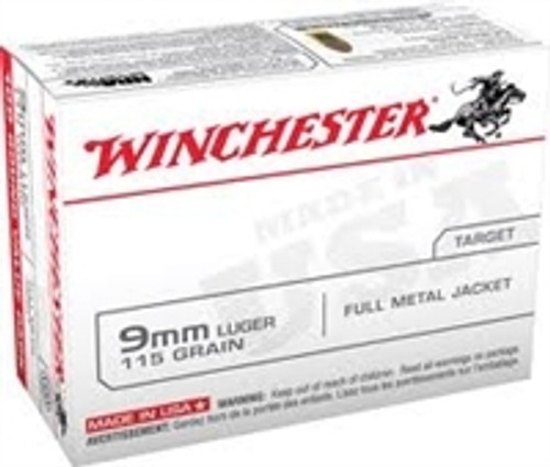 Winchester USA9MMVP 9mm 115 gr FMJ RN 1000 rounds